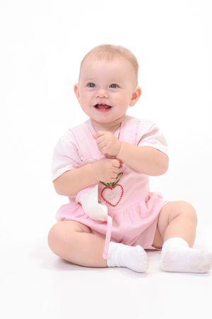 lassie: Baby in white background