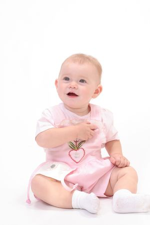sissy: Baby in white background