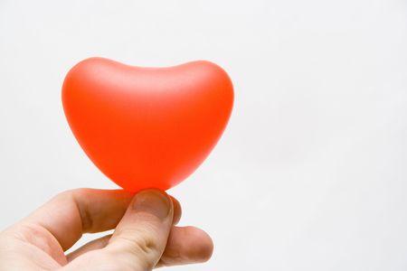donative: Heart in gift Stock Photo