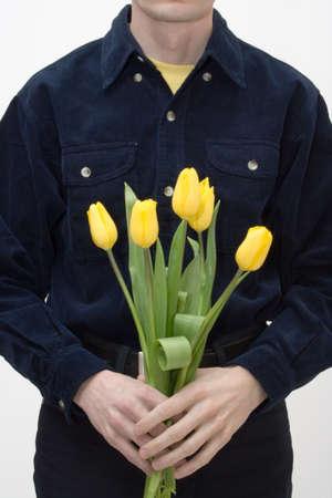 donative: Man with tulip