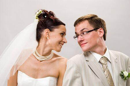 weddingrings: Married. Newlywedses look friend on friend