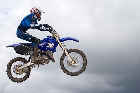 motorcross: Extreme deporte. Competiciones de motocross.  Foto de archivo