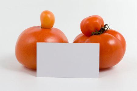 Genetic modify. Unique tomato on white background. Stock Photo