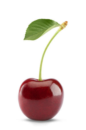 natures: Sweet cherry isolated on white
