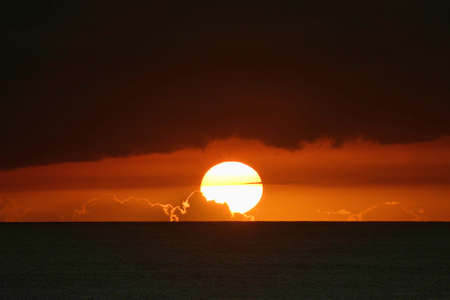 honolulu: Beautiful Sunset in Honolulu Hawaii Stock Photo