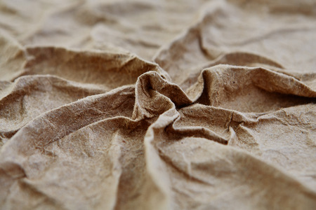texture of crumpled craft paper Stock Photo