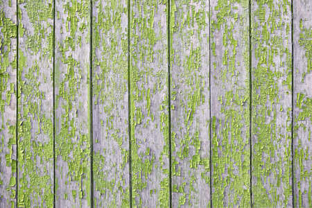 green and yellow old Board with cracks from old paint, vintage grunge style with a cracked surface background for your text, decoration or advertising template, retro art. 免版税图像