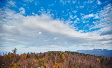 Ural mountains and ridges. Taganay ridge, a view from the city of Zlatoust, in the Chelyabinsk region.