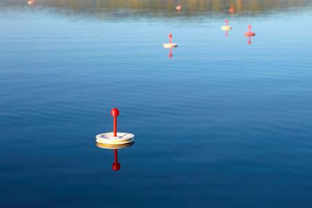 Fishing supplies. Round polystyrene Spools Reels for Fishing