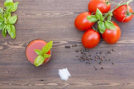 tomato juice: Tomato juice and tomatos Stock Photo