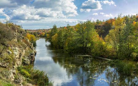 Terrific view of the River Canyon on a sunny fall day