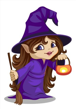 a cute little witch Ilustração