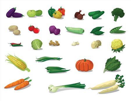 fresh vegetables Ilustração