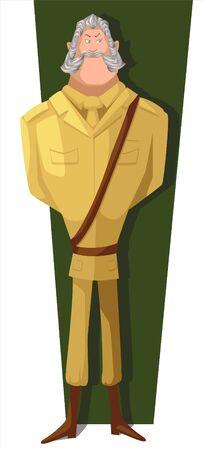 a strict old man in uniform