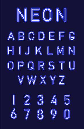 glow in the dark font Ilustração