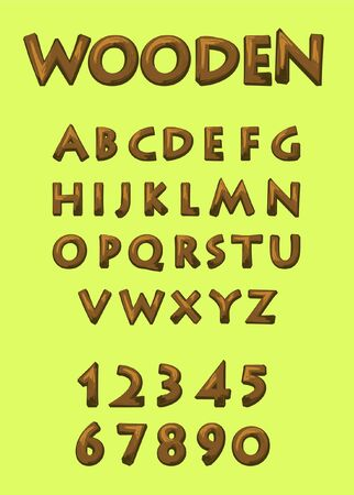 wooden style font for fun look