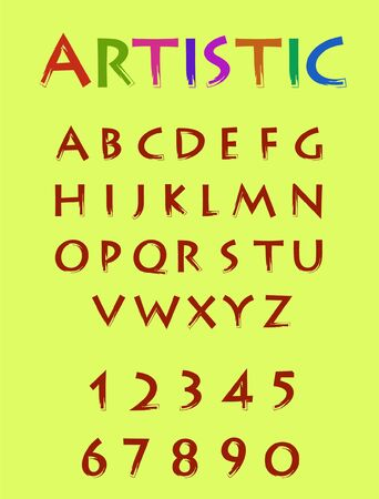 artistic colourful font
