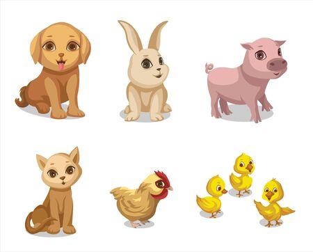 cute little farm animals Banco de Imagens - 150528534