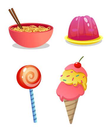 food for kids Ilustração
