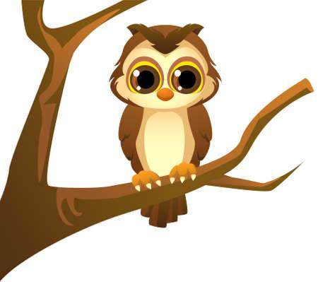 cute owl cartoon Ilustração