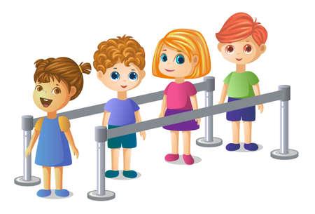 kids standing in a queue Banco de Imagens - 152712368