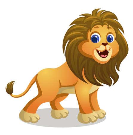 cute lion cartoon Banco de Imagens - 152712373