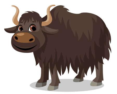 yak animal cartoon Vecteurs