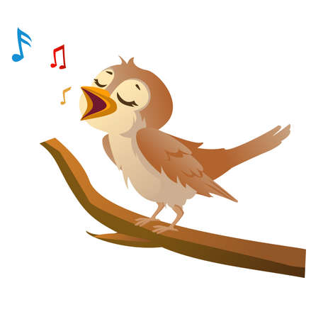 nightingale bird cartoon Banco de Imagens - 152712380