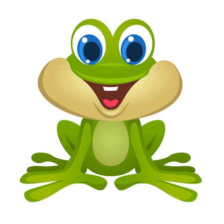 cute frog cartoon Ilustração