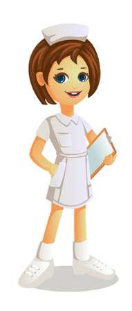 a girl in nurse costume Ilustração