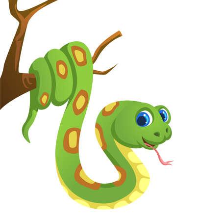 snake cartoon illustration Banco de Imagens - 152712382