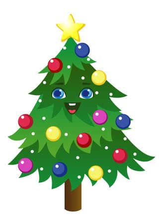 Christmas tree cartoon Banco de Imagens - 152701833