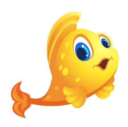 a cute goldfish vector Banco de Imagens - 152701840