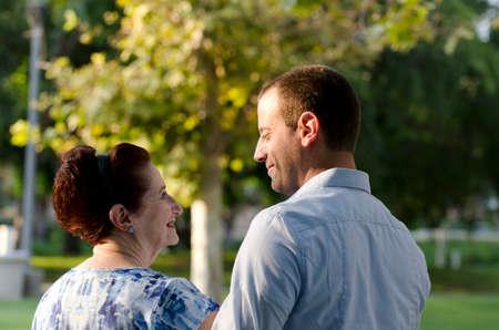 cherishing: Mother and son cherishing the moments of life. Stock Photo