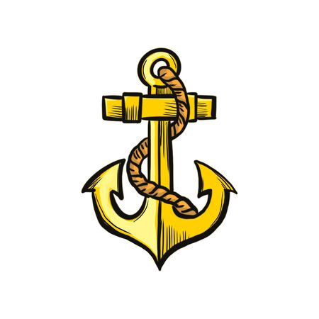 sea anchor on a white background Фото со стока