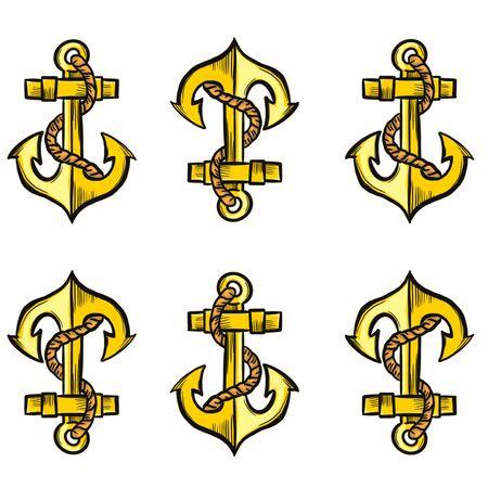 gold yakort pattern on a white background
