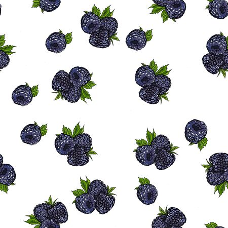 Seamless pattern of raspberries. Silhouettes of raspberries. Uniform filling. For design and decoration of fabric, paper, wallpaper.