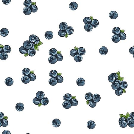 Seamless pattern of blueberries. Blueberry Silhouettes. Uniform filling. For design and decoration of fabric, paper, wallpaper, etc. Фото со стока