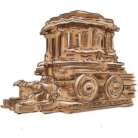 Hampi and the ruins of Vijayanagara Karnataka city India. Фото со стока