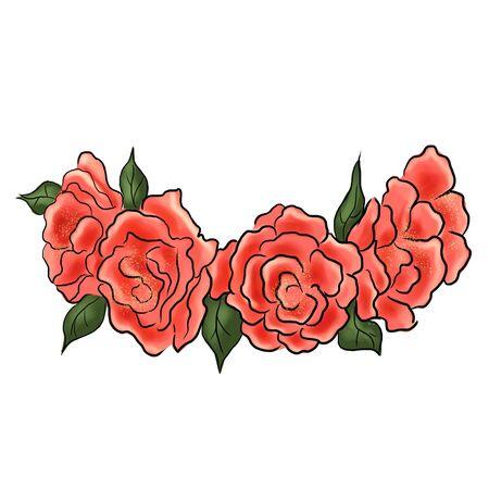 Rose Flower crown. Diadem. Head wreath. flower halo. decoration. Headband. Фото со стока