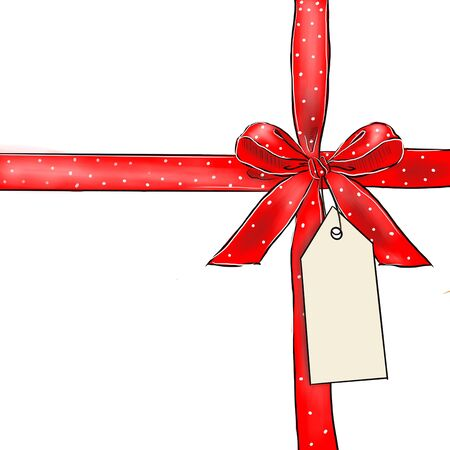 satin ribbon tied in a bow Фото со стока - 138153981