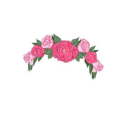 a womens jewelry wreath on head of flowers and berries Фото со стока