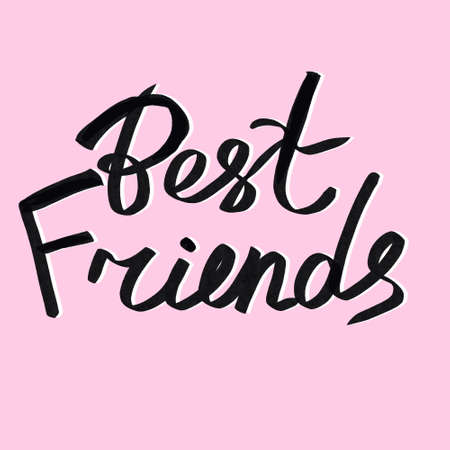 best friends with heart icon