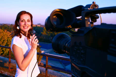 A young journalist leads a live television inclusion