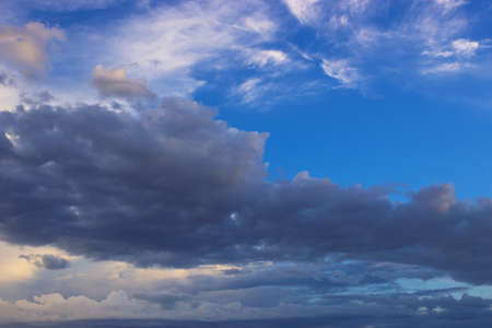 atmospheric pressure: Large clouds on the sky,photography Stock Photo