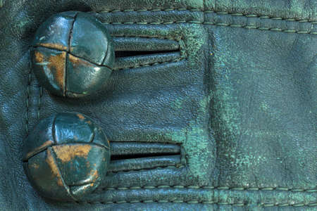 cuff bracelet: Cuff of genuine green leather Stock Photo