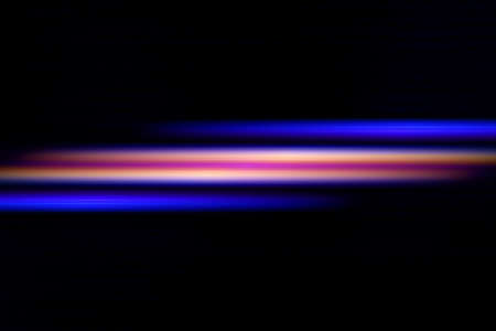 power projection: The beam of light on a black background, Illustration Stock Photo