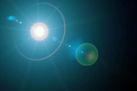 light transmission: Light green circle on a black  Stock Photo