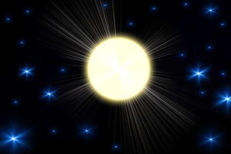 light transmission: Light yellow circle on a black