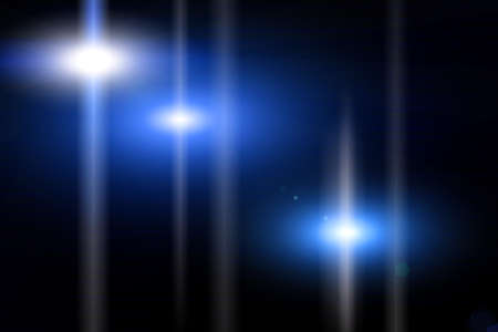 light transmission: The beam of blue light on a black